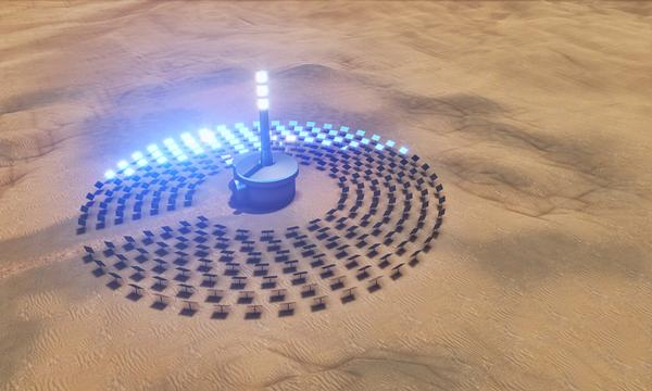 Desert concentrated solar power, a vision for the future