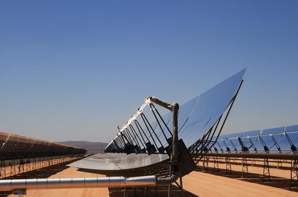 Moroccan Noor 1 solar plant and steam