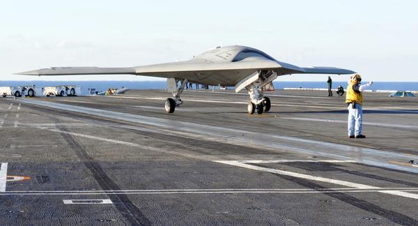 X47B first carrier launch