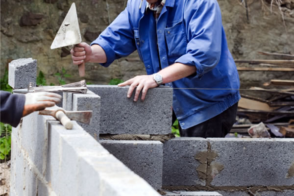 steam and aerated concrete building blocks