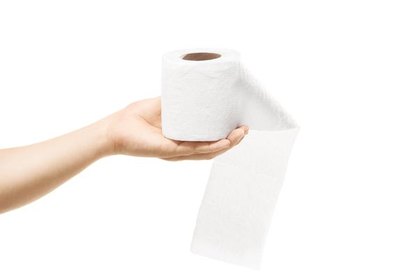 Toilet paper and steam